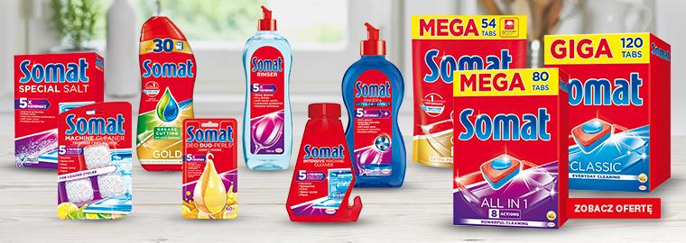 Somat - sól i tabletki do zmywarki - dostępne w Selgros24.pl